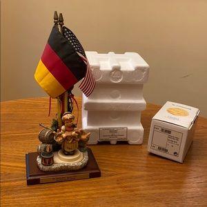 """Hummelscape Oktoberfest """"Pretzel Girl"""" signed set"""